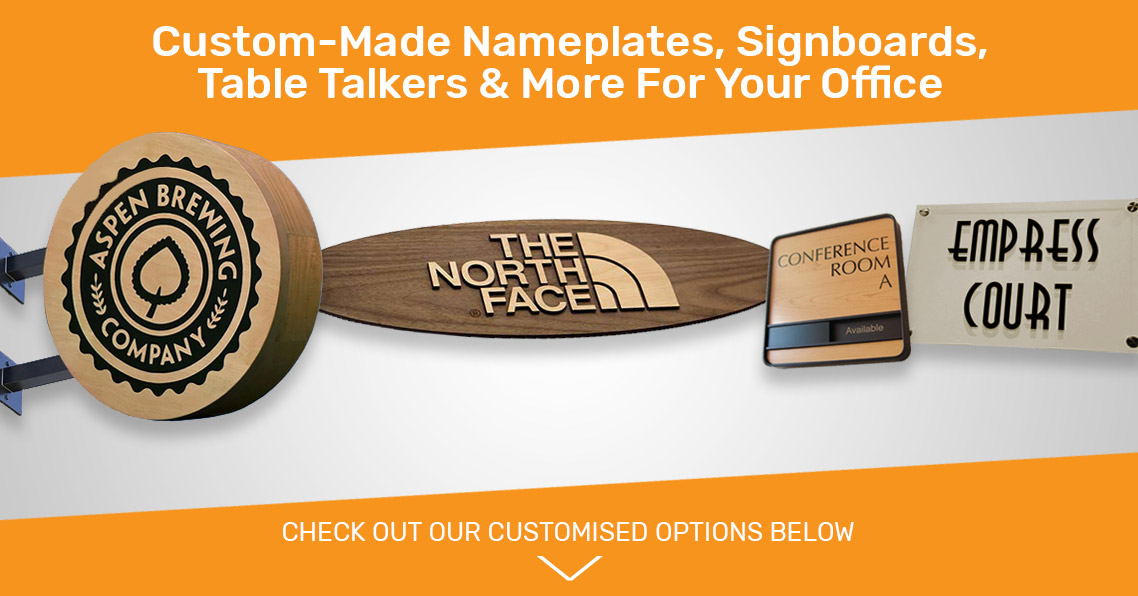 Customised Name Plates, Signages And Signboards For Your Workplace