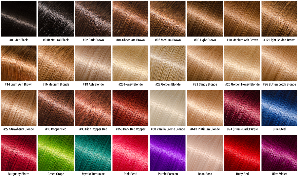 Hair Colour Chart \u2014 Belle Vous Hair - hair color chart