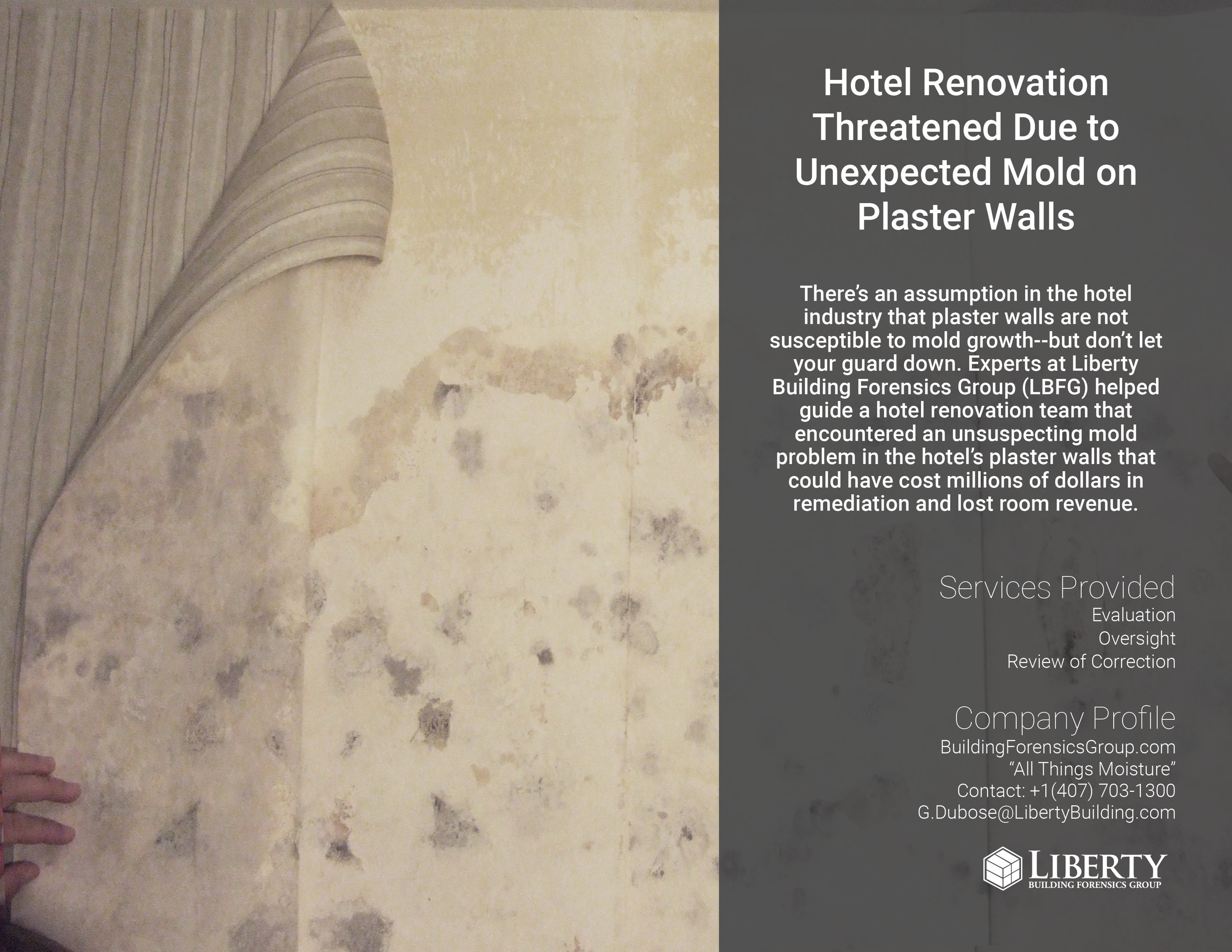 Plaster Building Hotel Renovation Threatened Due To Unexpected Mold On Plaster