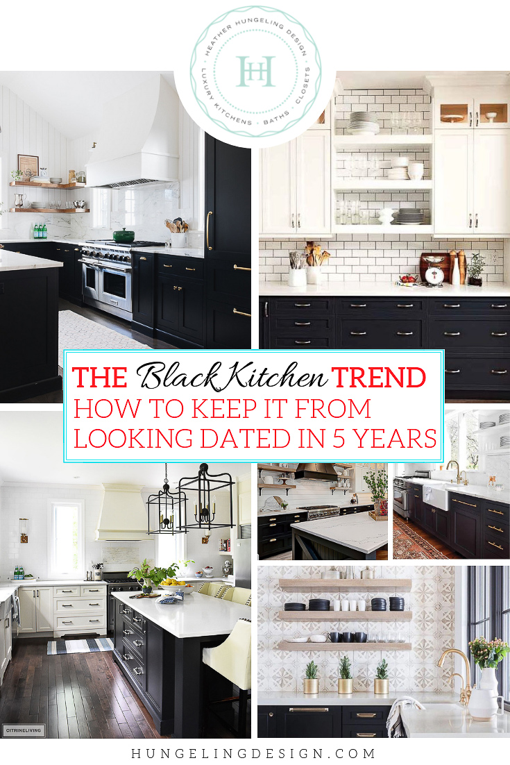 Black Design For Kitchen The Black Kitchen Cabinet Trend Heather Hungeling Design
