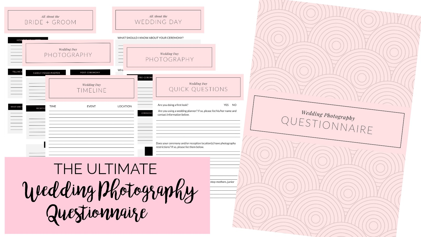 The Ultimate Wedding Photography Questionnaire + Free Download