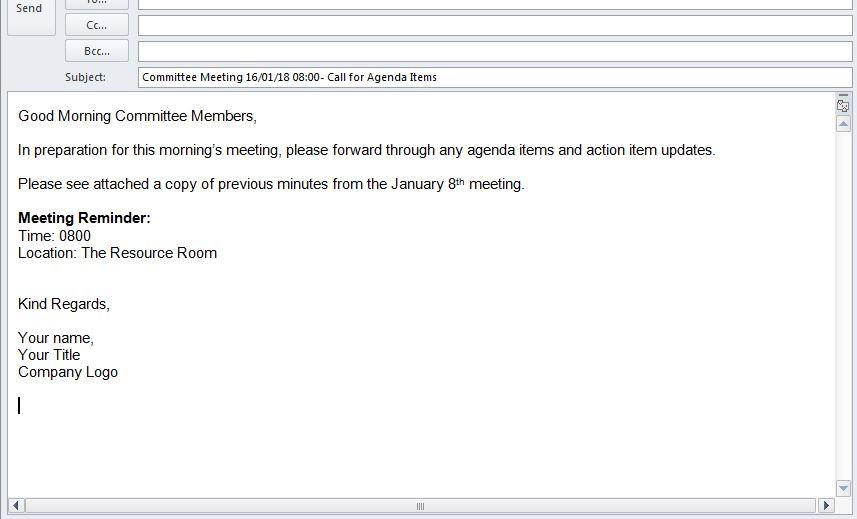 Minute Taking and Agenda Writing \u2014 Admin Elect - agenda writing