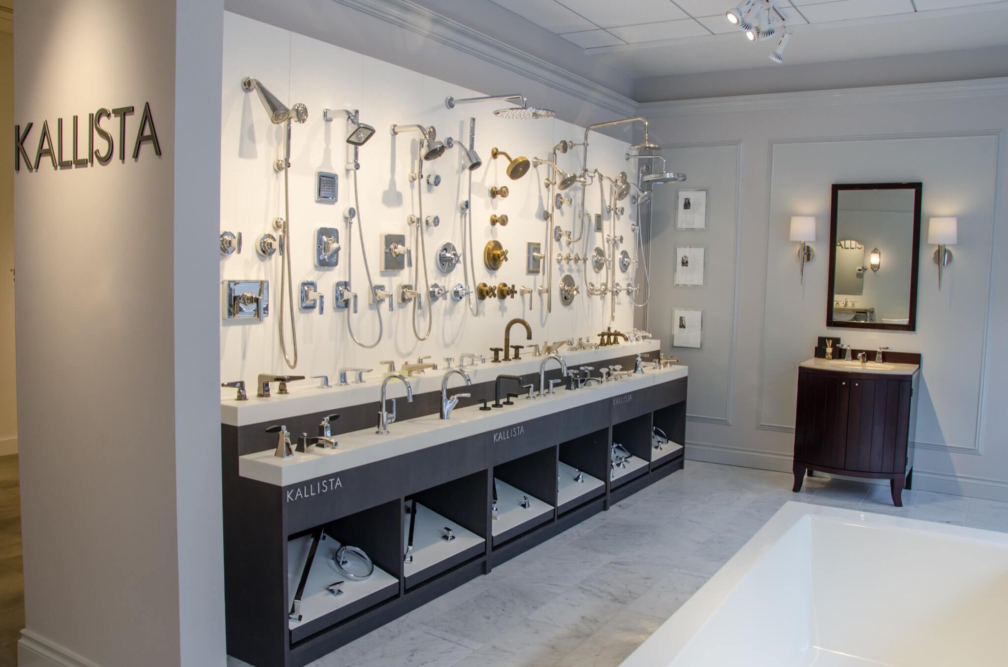 Show Room Showroom Display For Kallista S Faucets And Fixtures Conceptworks
