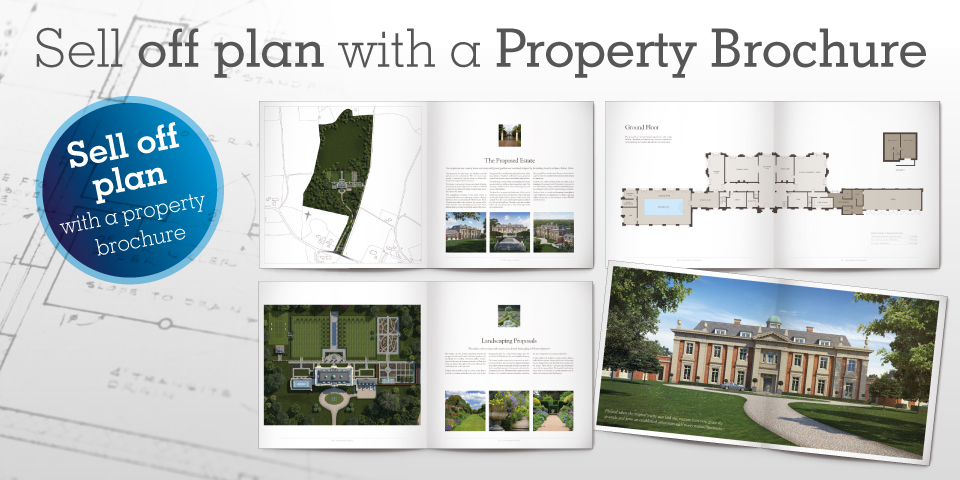 Sell off plan with a property brochure \u2014 Artists Impressions