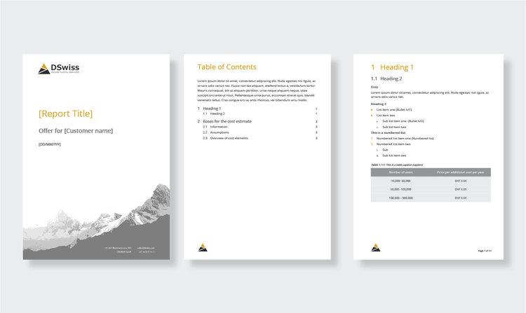 Microsoft Office template design \u2014 Microcosm Design Graphic Design - office templates for word