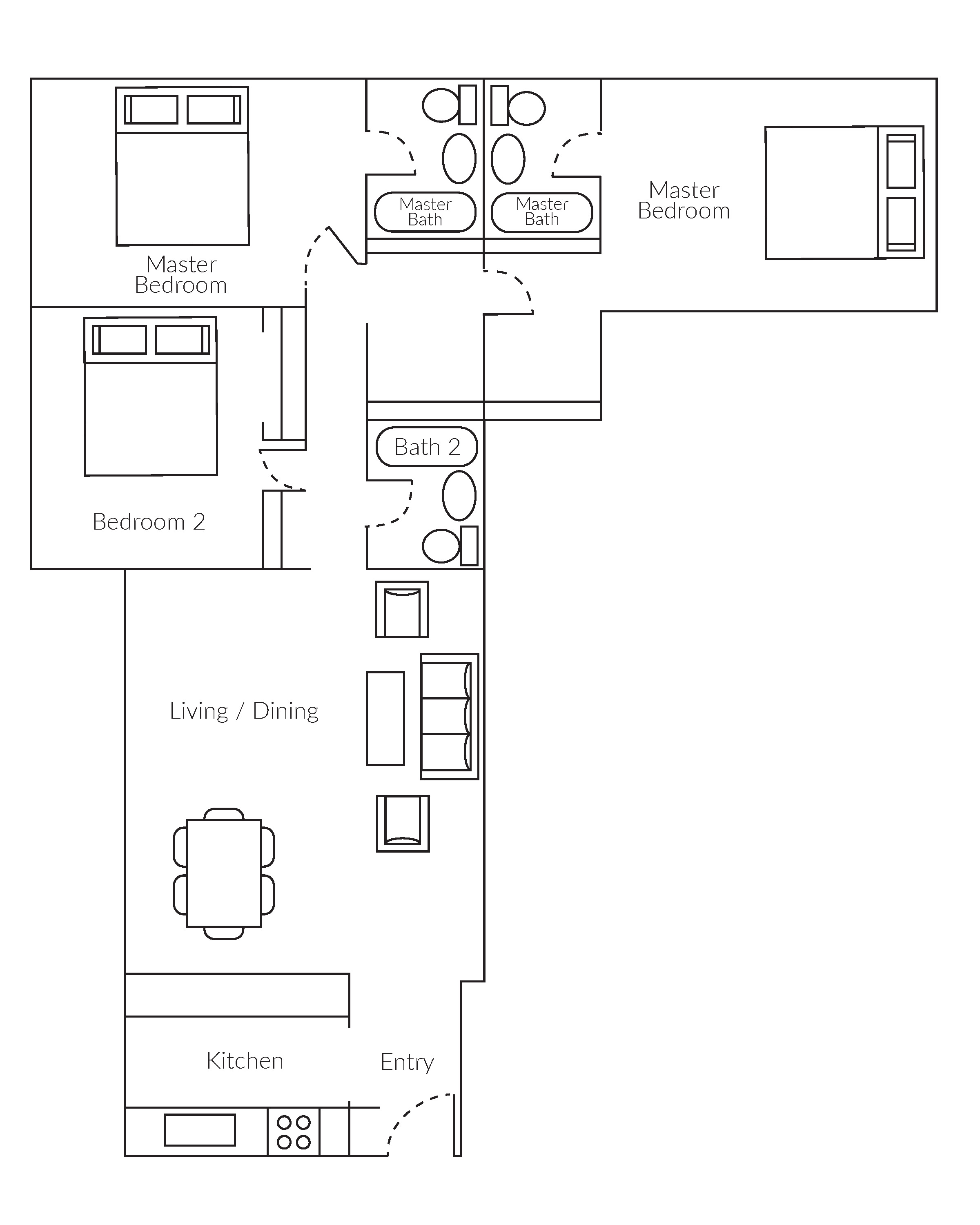 3 Bedroom Apartment Floorplan Large Studio 1 2 3 Br Apts With Sf Views Parkmerced