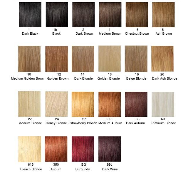 Hair Color Chart \u2014 WeaveEasy - hair color chart