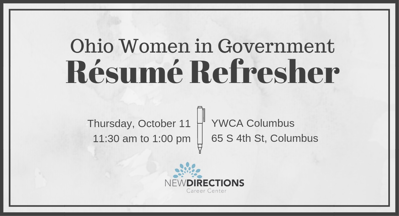 OWIG Resume Refresher \u2014 Ohio Women in Government