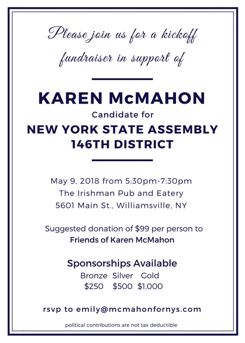 Events \u2014 Karen McMahon for New York State Assembly