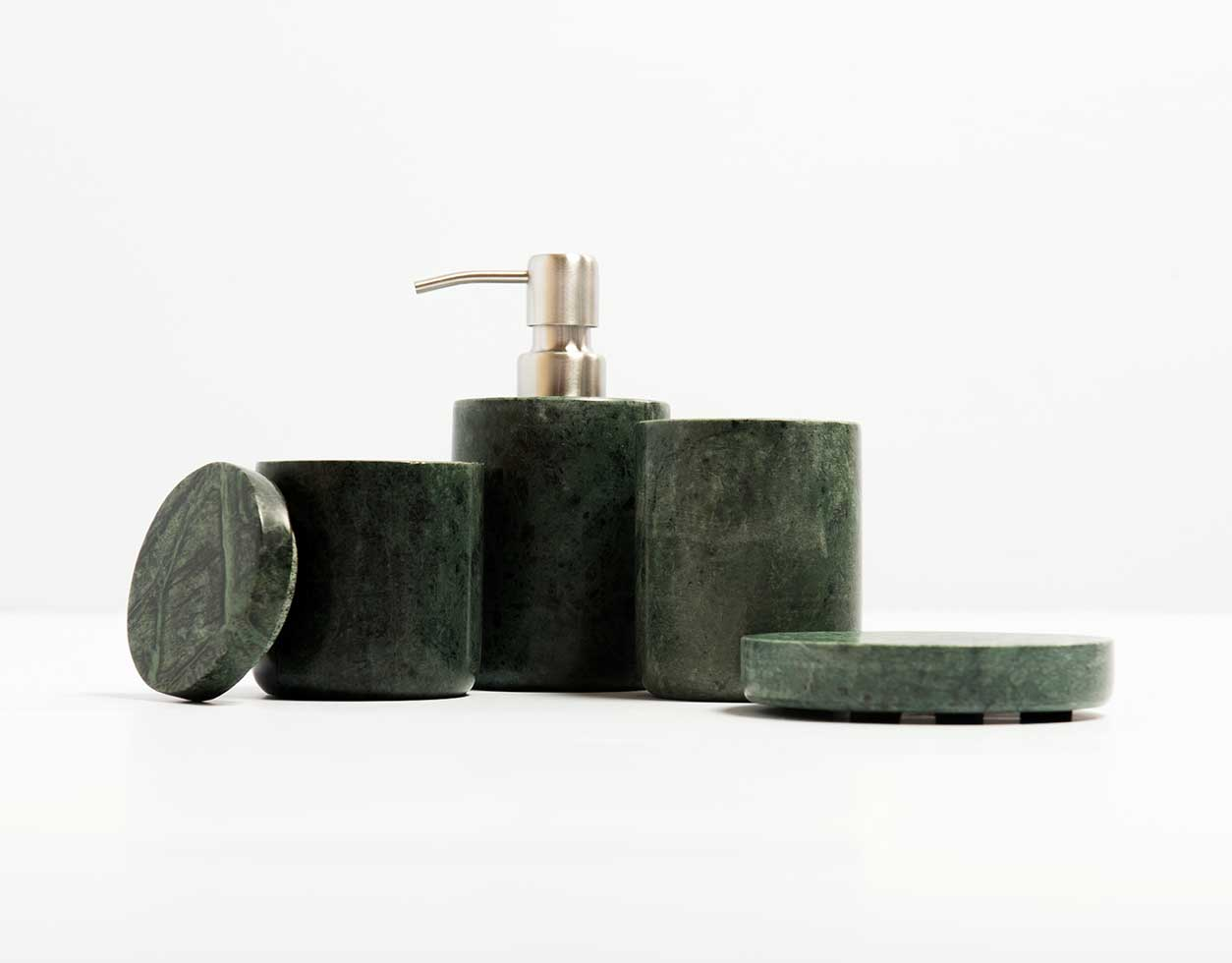 Bathroom Accessories Marble Bathroom Accessories Green