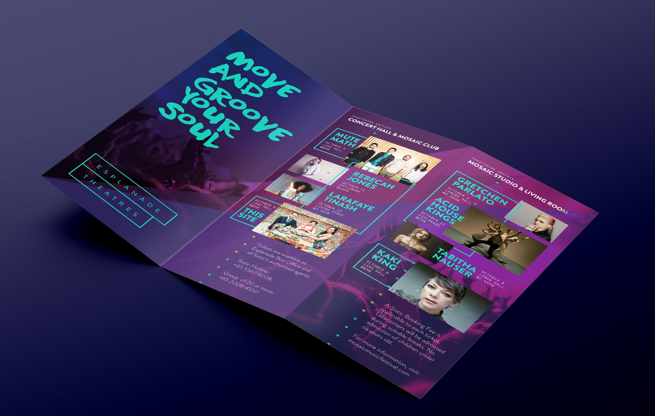 Mosaic Music Festival Brochure \u2014 ENYA PANGILINAN