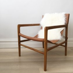 Small Of Leather Sling Chair