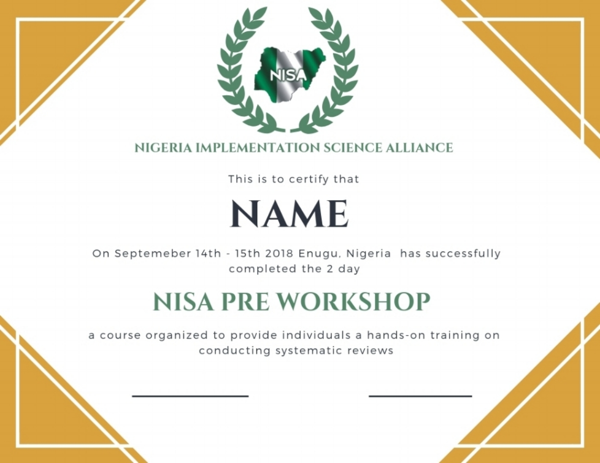 Pre  Post Workshop Evaluation \u2014 NISA RESEARCH