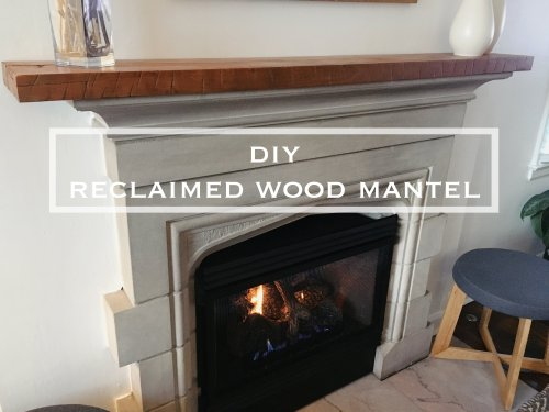 Medium Of Reclaimed Wood Mantel