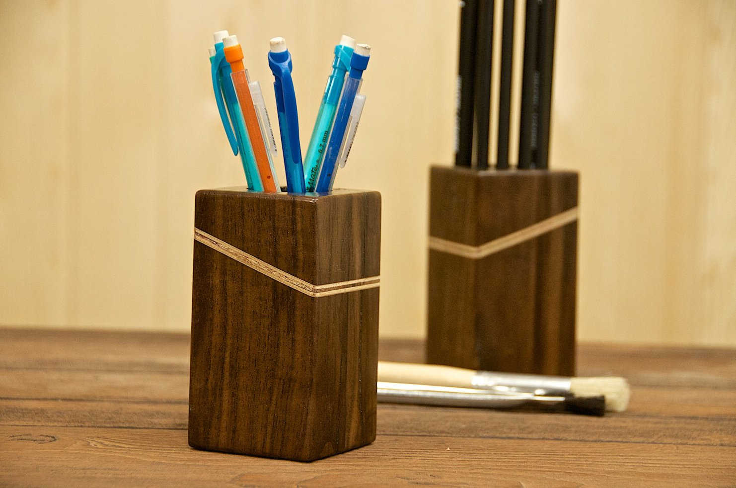 Homemade Pencil Holders Quick And Easy Wooden Pencil Holders