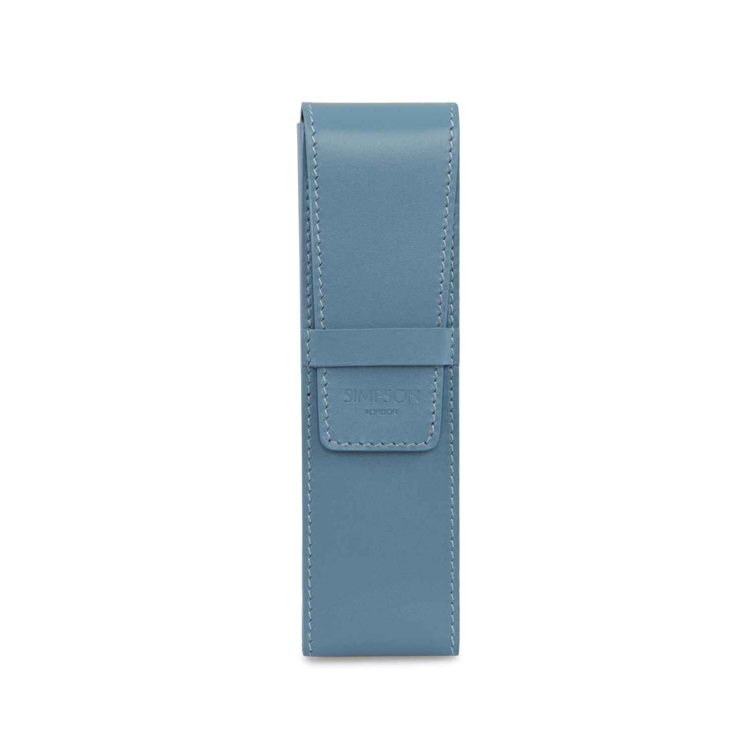 Baby Blue Pen Pen Case Sky Blue Simpson London Luxury Leather Goods And Bespoke British Craftsmanship