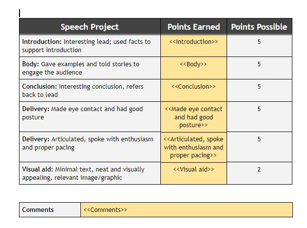 Creating a Digital Rubric with Google Forms and autoCrat \u2014 Hello