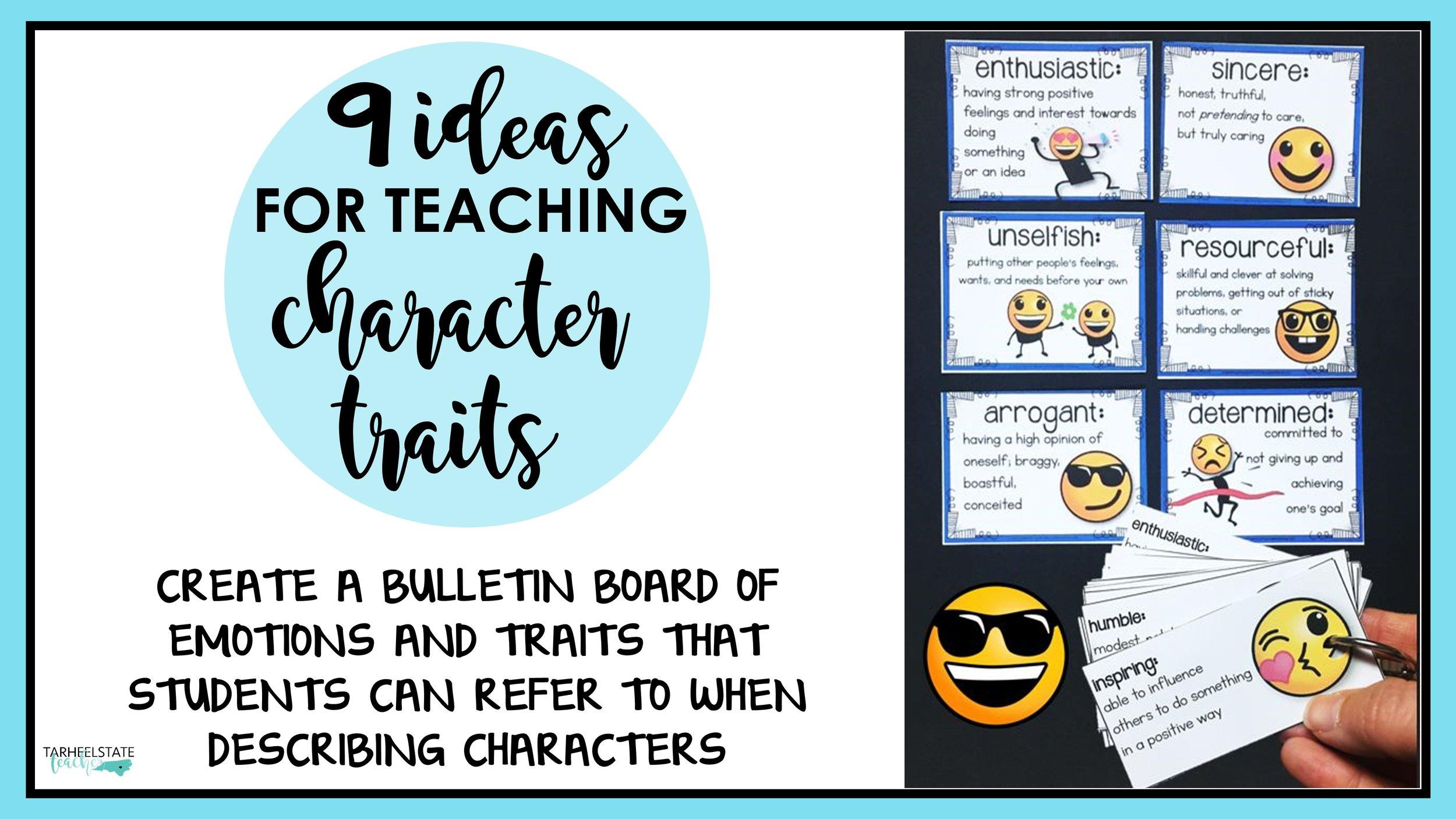 A Lesson Fail and 9 Ideas for Character Traits \u2014 Tarheelstate Teacher