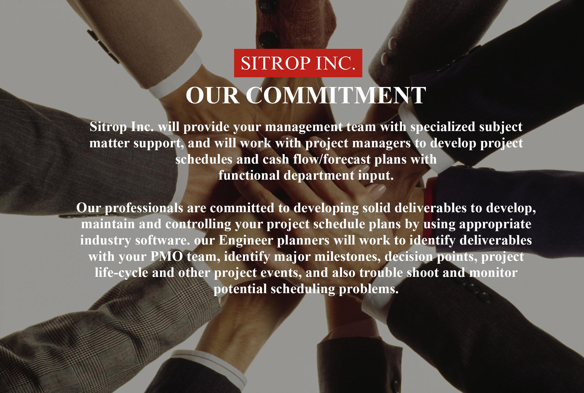 Services \u2014 SITROP INC