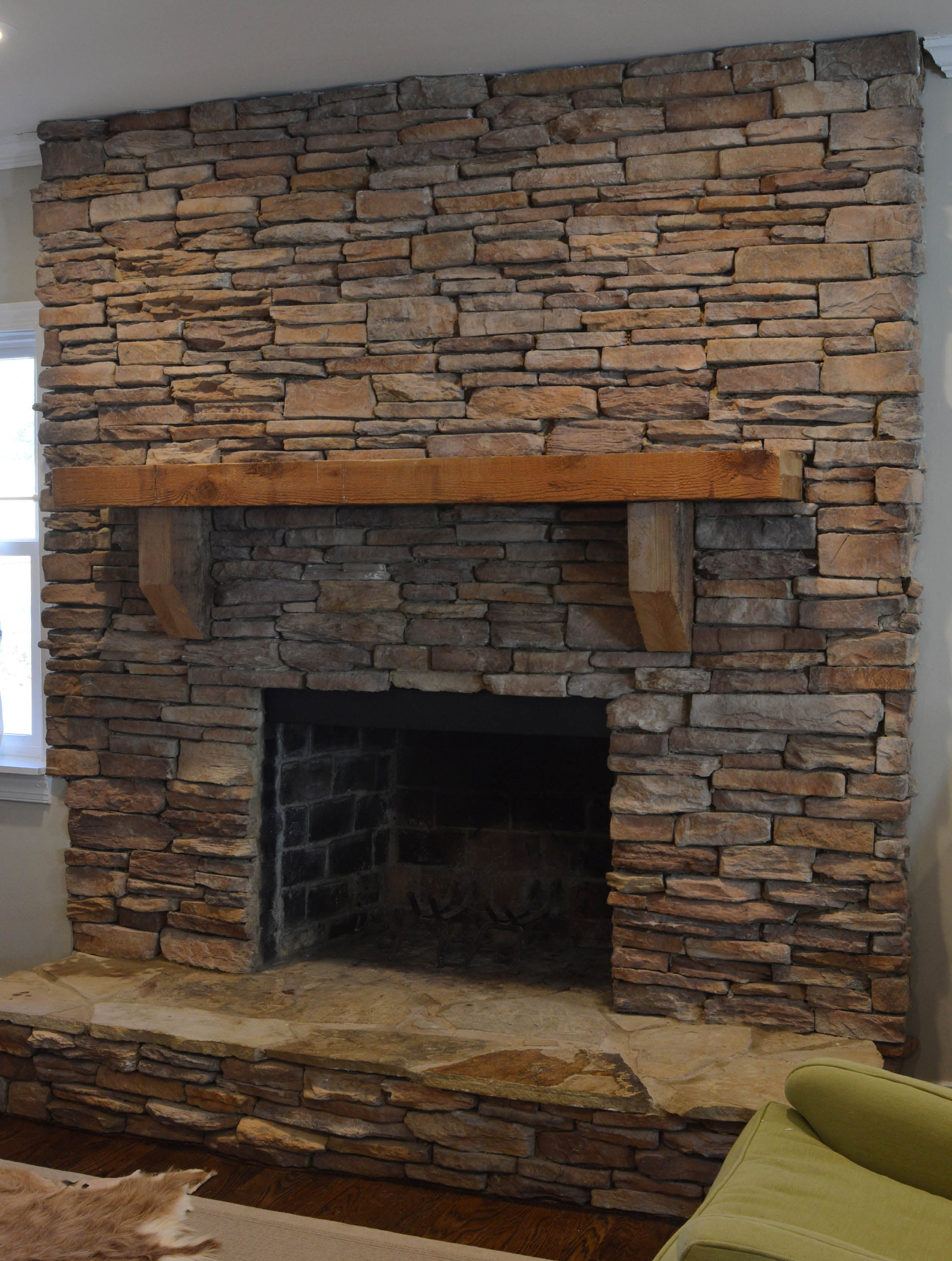 Lime Wash Brick Fireplace Before After Our Fireplace Makeover Hearth And Home