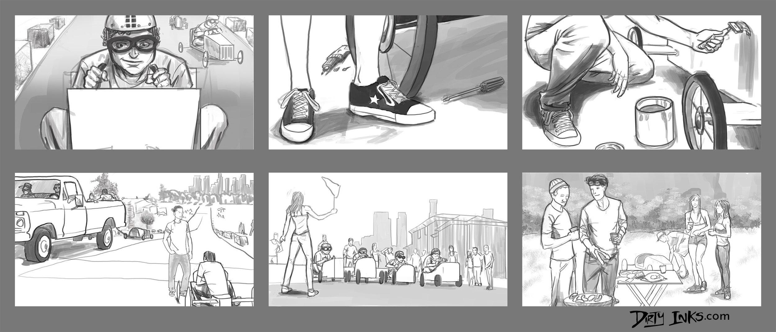 Storyboards \u2014 Dirty Inks