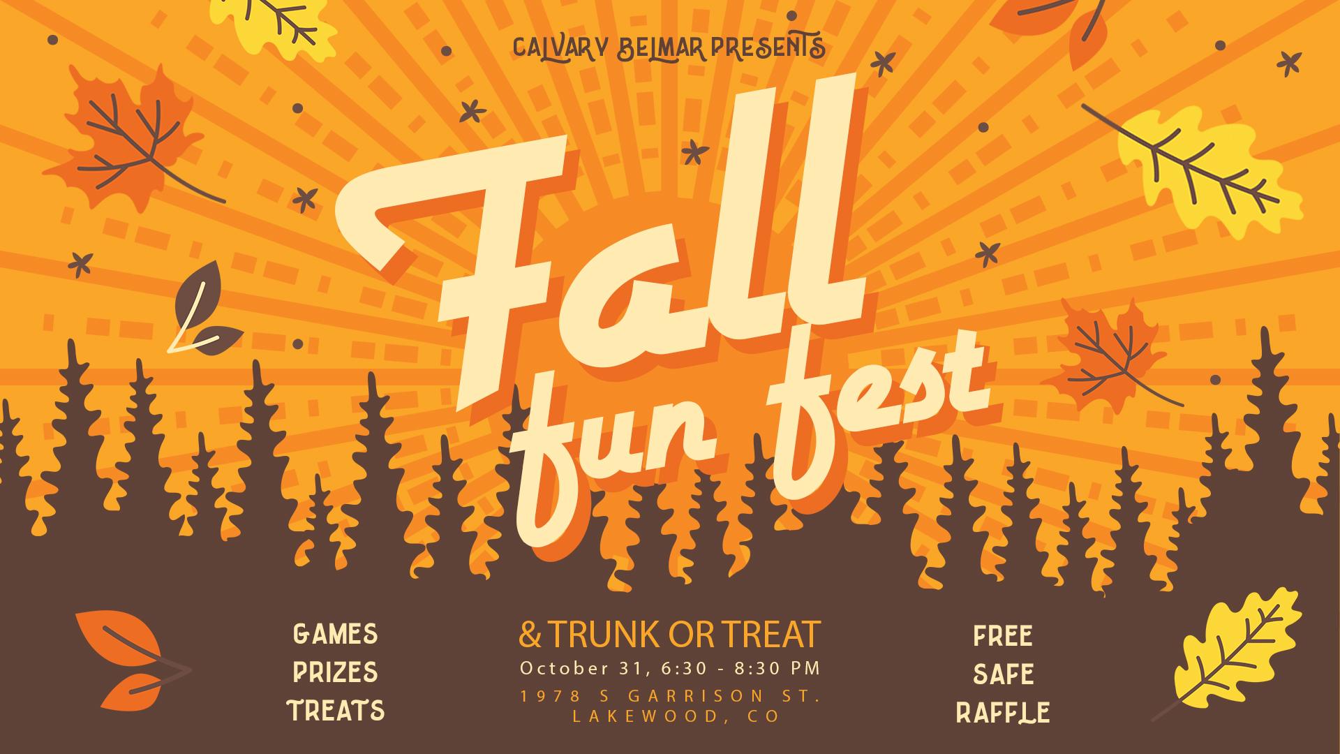 Fall Fun Fest  Trunk or Treat! \u2014 Calvary Belmar