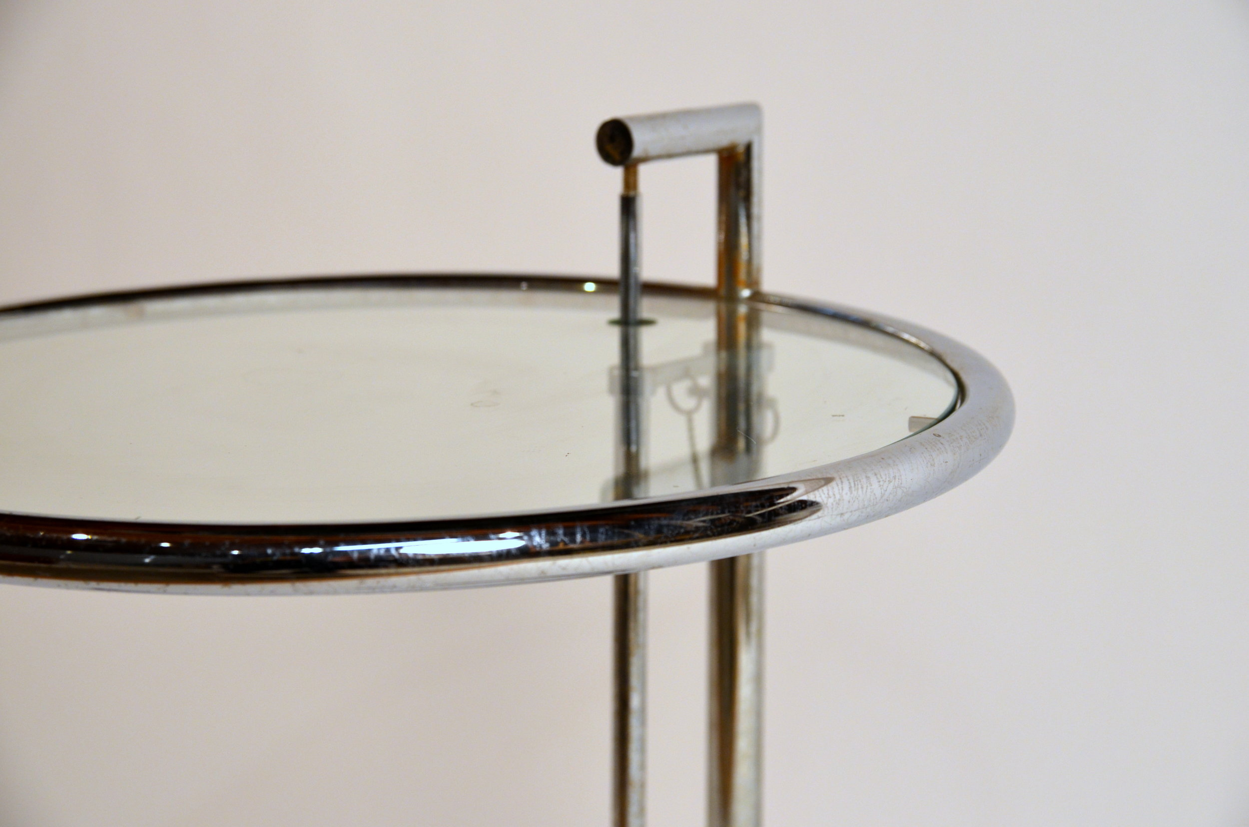Eileen Gray Table Eileen Gray Chrome And Glass Round Side Table