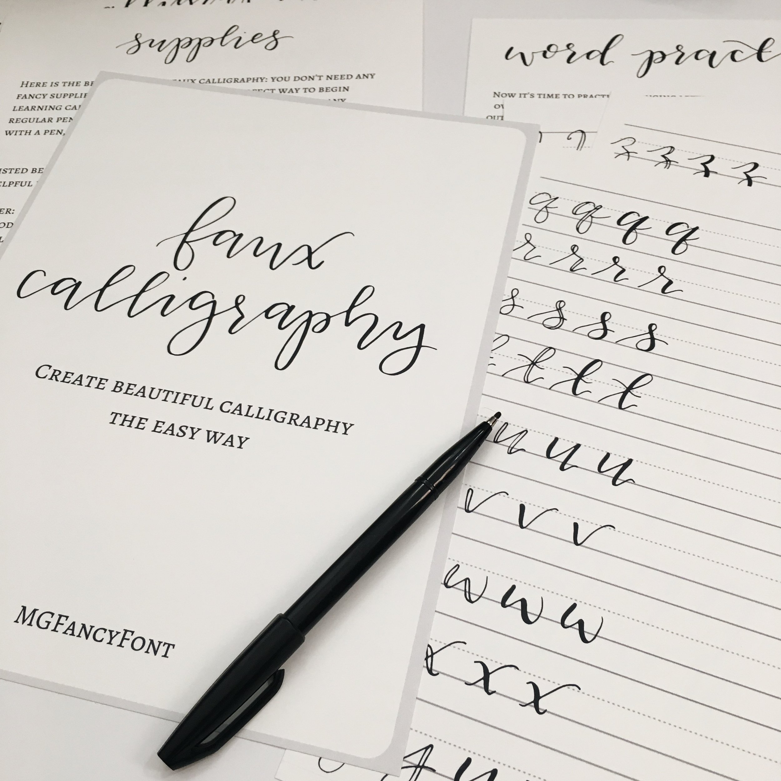 Wedding Calligraphy A Guide To Beautiful Hand Lettering Faux Calligraphy Guide