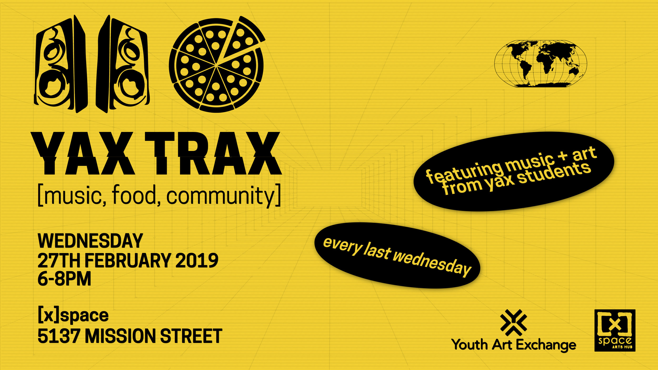 Wednesday 6 February 2019 Yax Trax February 2019 Youth Art Exchange