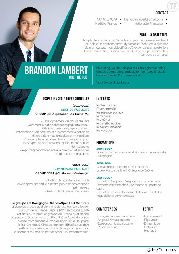 exemple lettres de motivation cv