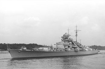 The German Battleship, the Bismarck