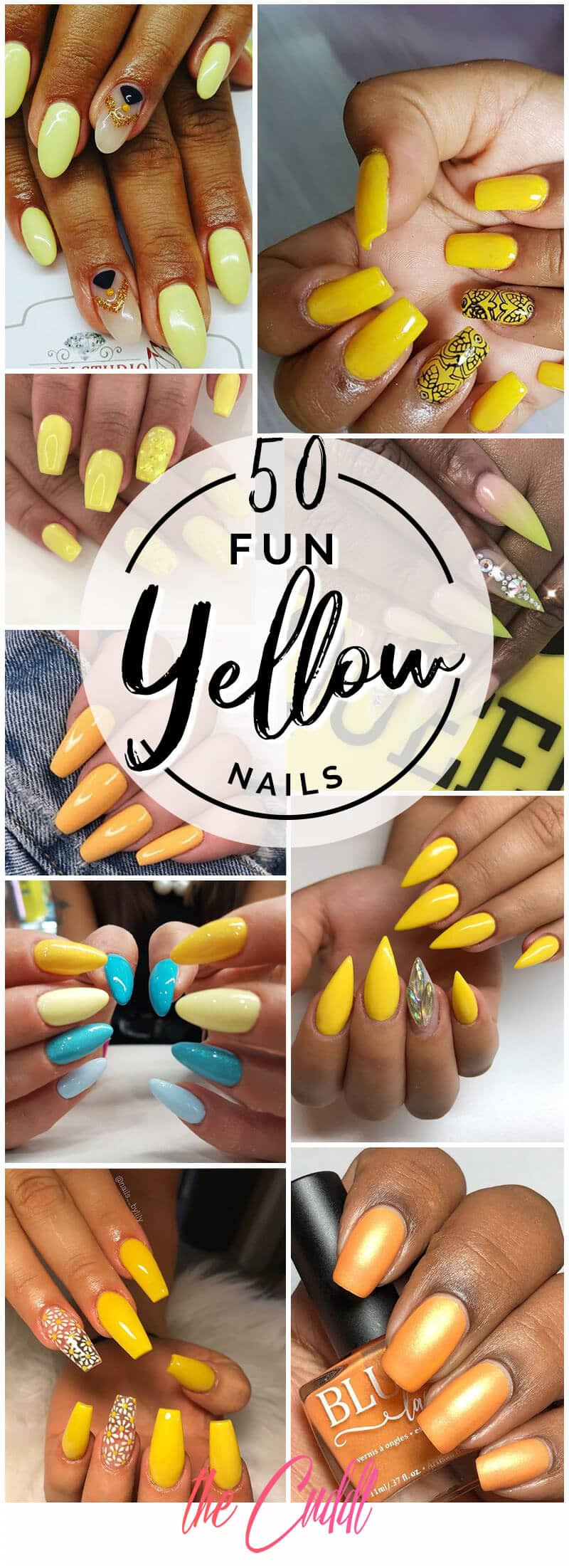 50 Gorgeous Yellow Acrylic Nails To Spice Up Your Fashion In 2021