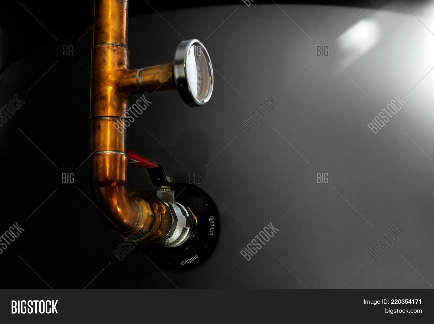 Closein Boiler Boiler Valve Image Photo Free Trial Bigstock