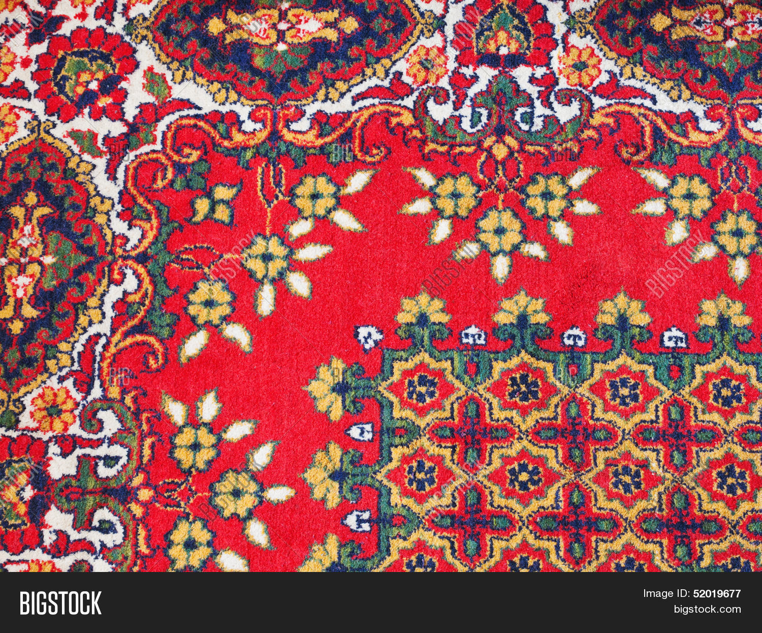 Asian Carpet Ornament Central Asian Image Photo Free Trial Bigstock