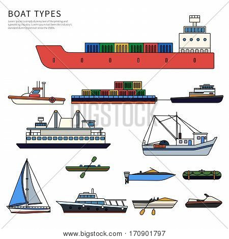 Boats Ships Types Vector  Photo (Free Trial) Bigstock - types of ships