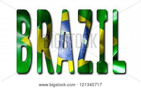 Brazil Word Flag Image  Photo (Free Trial) Bigstock - word flag