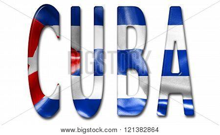 Cuba Word Flag Texture Image  Photo (Free Trial) Bigstock - word flag