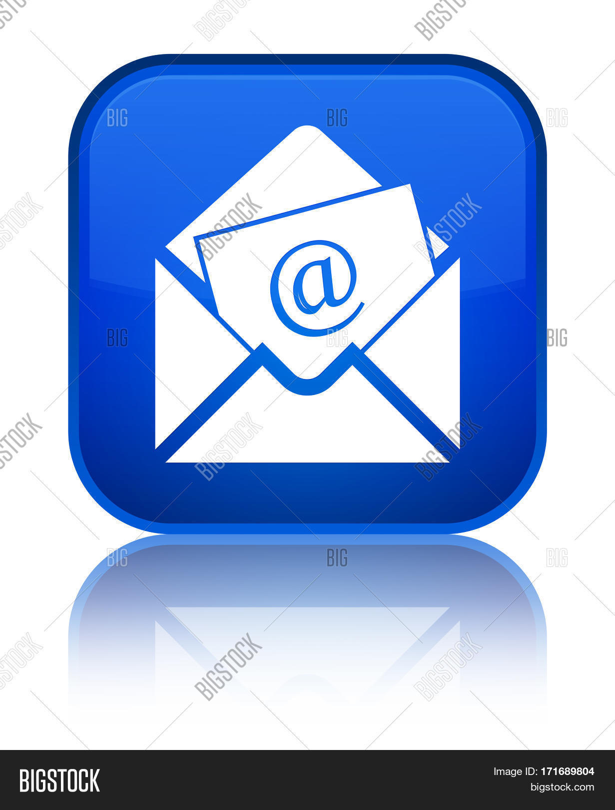 Email Icon Isolated On Special Yellow Square Button Abstract Newsletter Email Icon Image And Photo Free Trial Bigstock