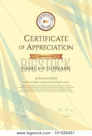 Portrait Certificate Vector  Photo (Free Trial) Bigstock - certificate of appreciation template