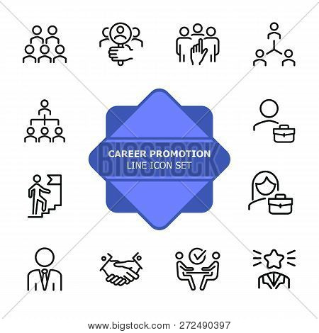 Career Promotion Line Vector  Photo (Free Trial) Bigstock