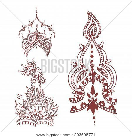 Henna Tattoo Brown Vector  Photo (Free Trial) Bigstock