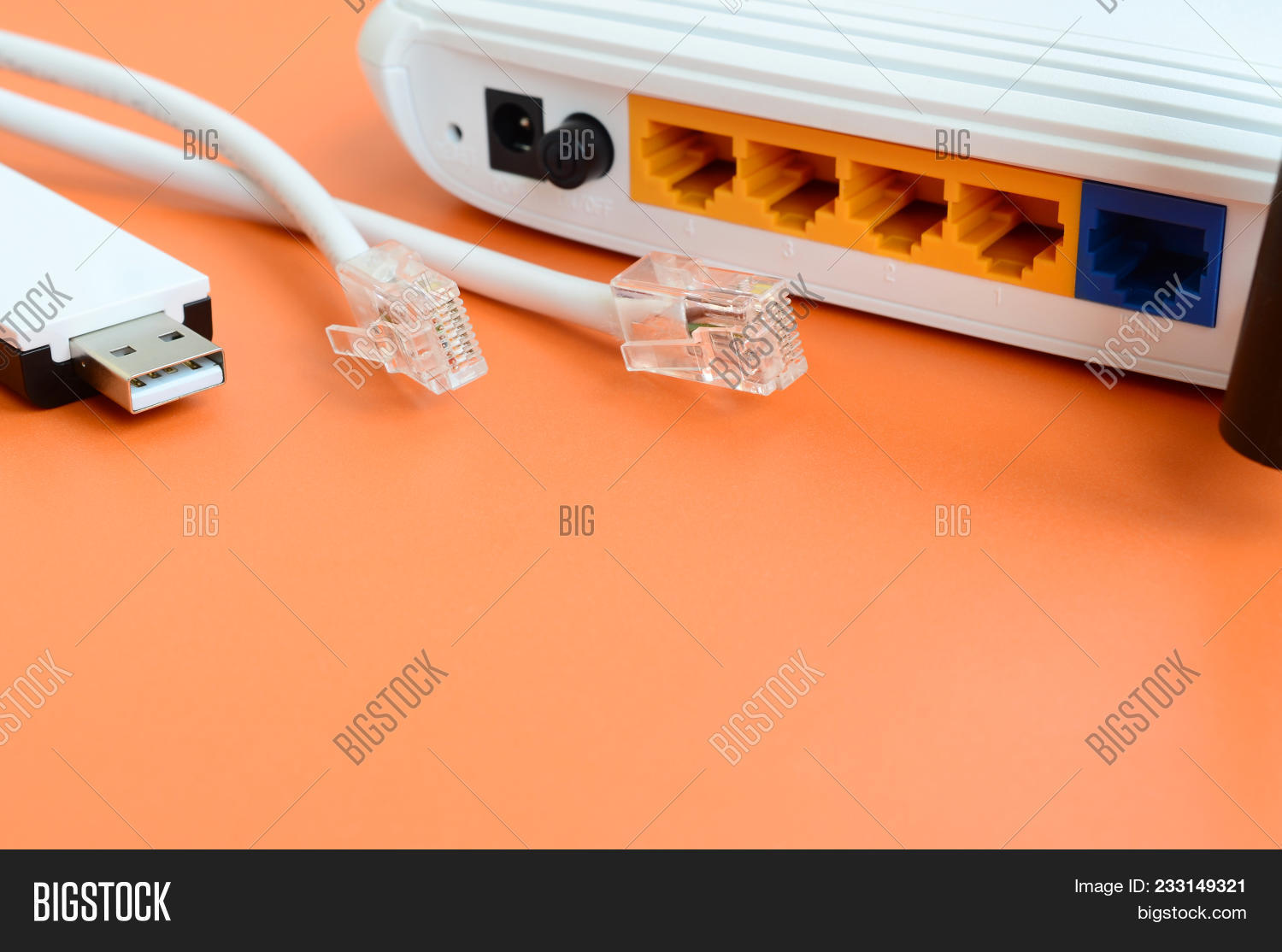 Orange Connexion Internet Internet Router Image Photo Free Trial Bigstock