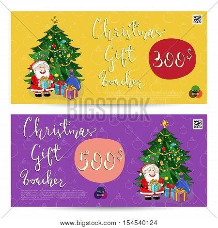 Christmas Voucher Vector  Photo (Free Trial) Bigstock