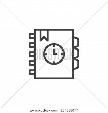 Agenda Outline Icon Vector  Photo (Free Trial) Bigstock