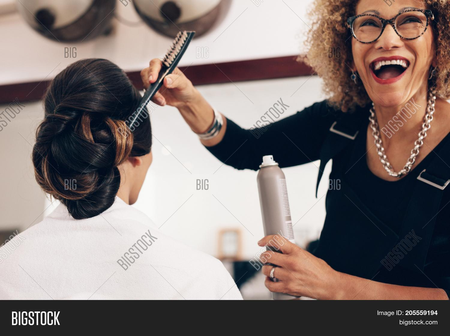 Salon Senior Senior Woman Image Photo Free Trial Bigstock