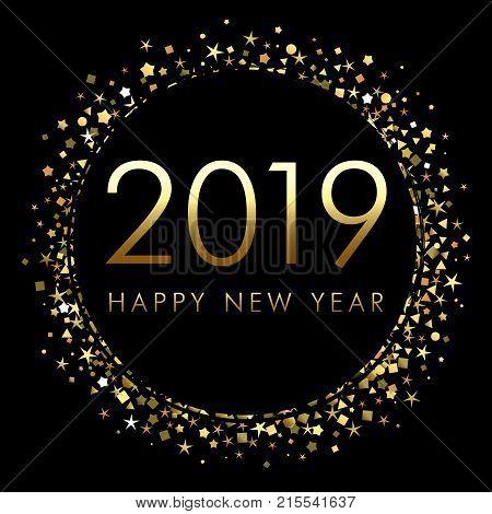 2019 Happy New Year Vector  Photo (Free Trial) Bigstock