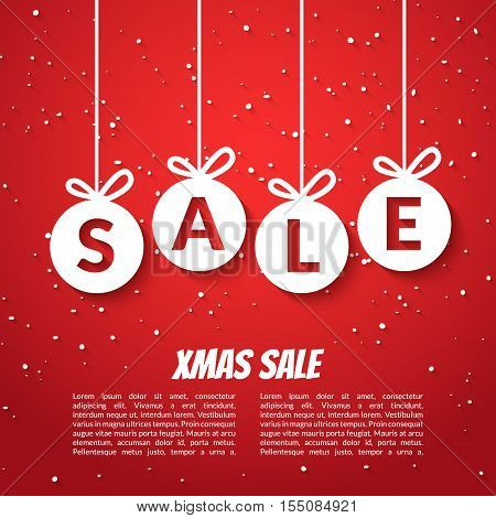 Christmas Balls Sale Poster Vector  Photo Bigstock - for sale poster template