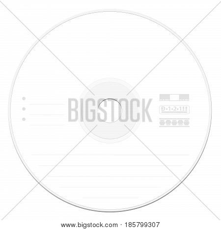 CD Blank Label Template - Vector  Photo Bigstock