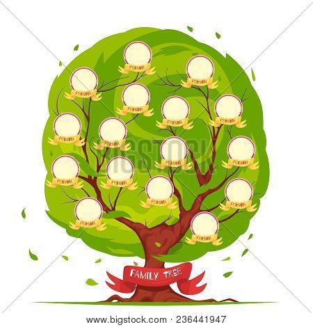 Genealogical Tree Vector  Photo (Free Trial) Bigstock