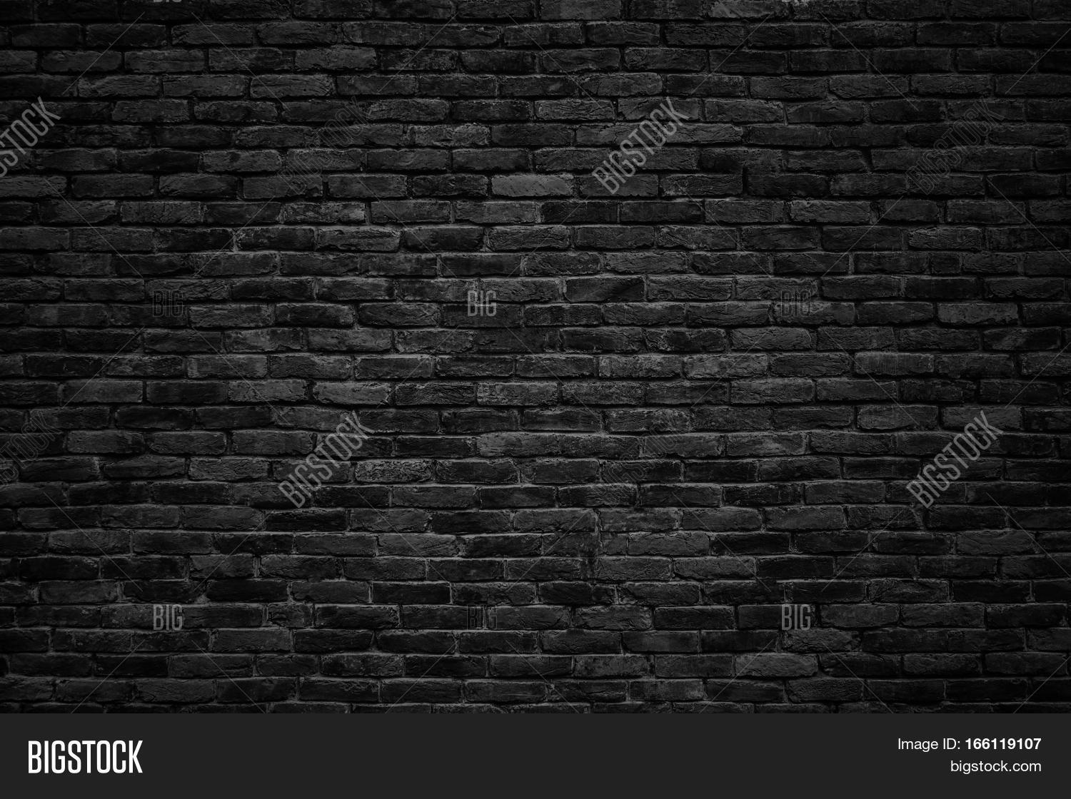 Black Brick Wall Black Brick Wall Dark Image And Photo Free Trial Bigstock